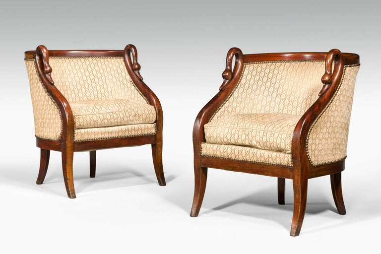 19th Century Pair of French Armchairs For Sale