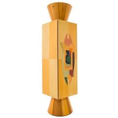 """Alessandro Mendini, """"Colonna Ollo"""" Cabinet in Wood, Italy, circa 1980"""