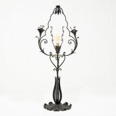 Carlo Rizzarda - Table lamp in wrought iron - circa 1920