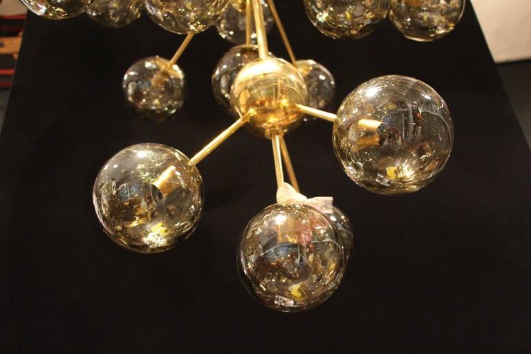 Italian Modern Mid Century Very Long Sputnik Chandelier At
