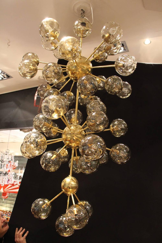 Italian modern mid century very long sputnik chandelier at for Very modern lighting
