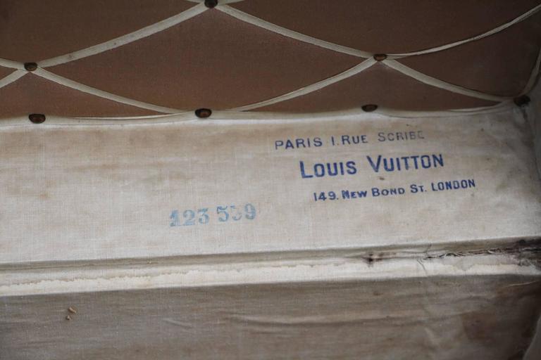 1900s Louis Vuitton Courrier Steamer Trunk in Woven Canvas,Malle Louis Vuitton For Sale 2