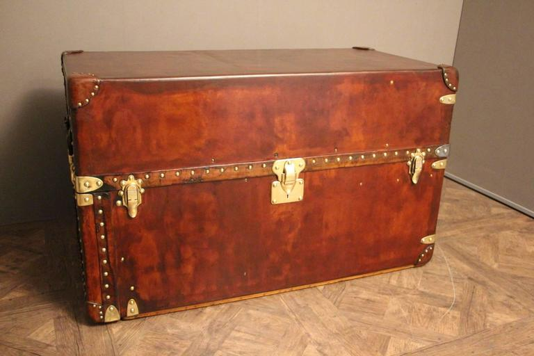 Extra Large Louis Vuitton All Leather Wardrobe Steamer Trunk Coffee Table Malle For Sale At 1stdibs