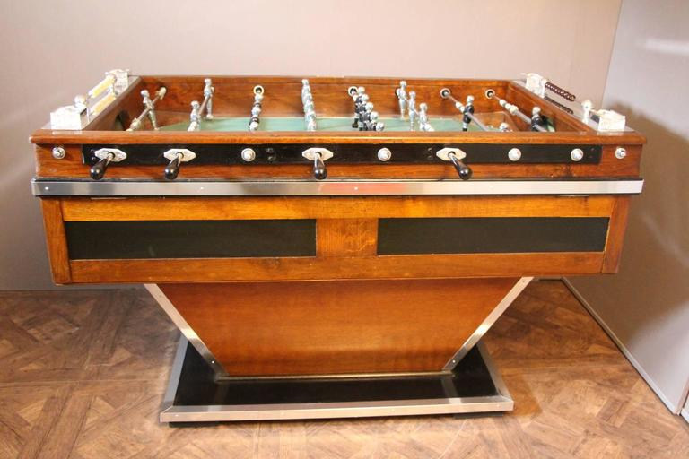 Mid Century French Foosball Table At 1stdibs
