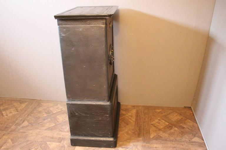 French Black Steel, Iron and Wood Safe with All Keys and Working Combination by Petitje For Sale