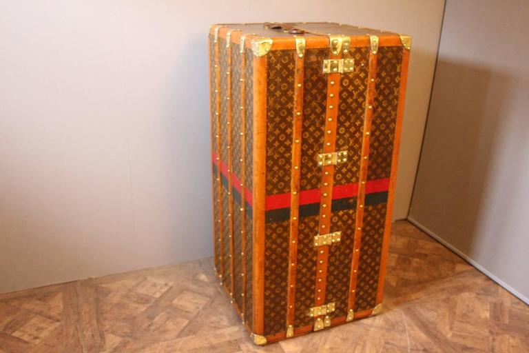 1930s Louis Vuitton Monogram Canvas Wardrobe Steamer Trunk 4