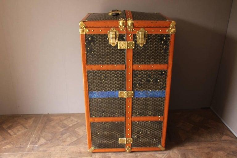 Large Goyard Wardrobe Steamer Trunk 2