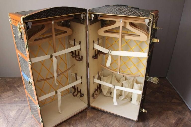 Large Goyard Wardrobe Steamer Trunk 8