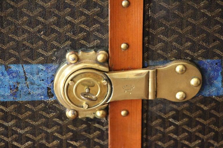 Large Goyard Wardrobe Steamer Trunk 10