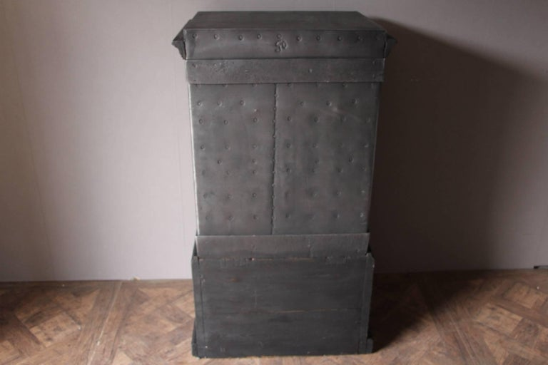 Black Steel Iron And Wood Safe With All Keys And Working