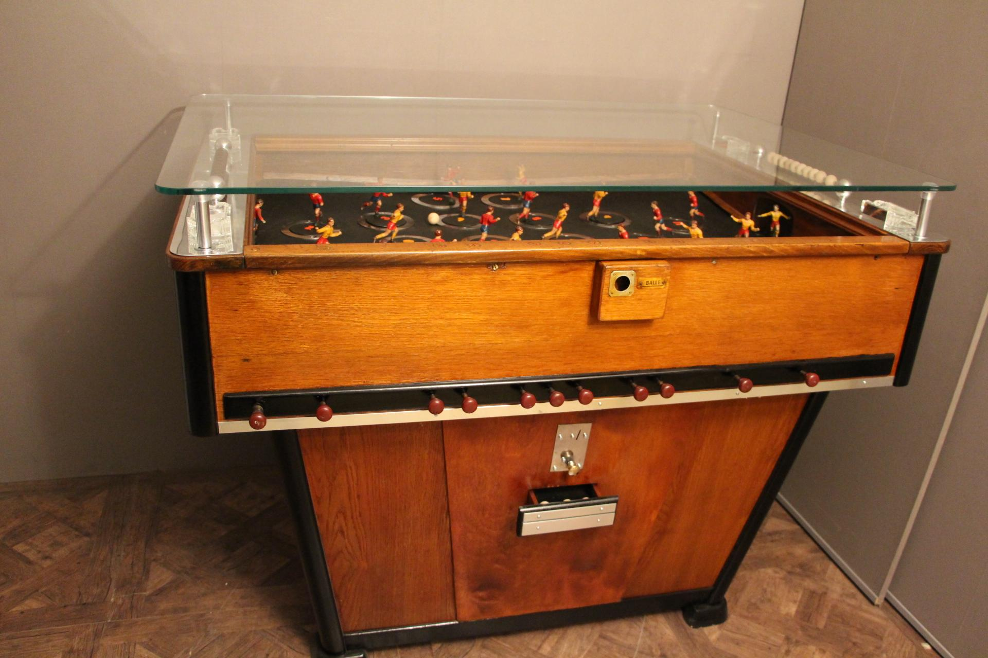 This Foosball Is Very Rare Because Its Players Spin Around On A Turning  Plate To Reach