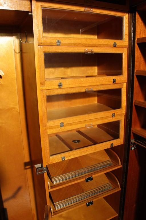 1930s inlaid mahogany compactom steamer trunk at 1stdibs - 1930 s mahogany bedroom furniture ...