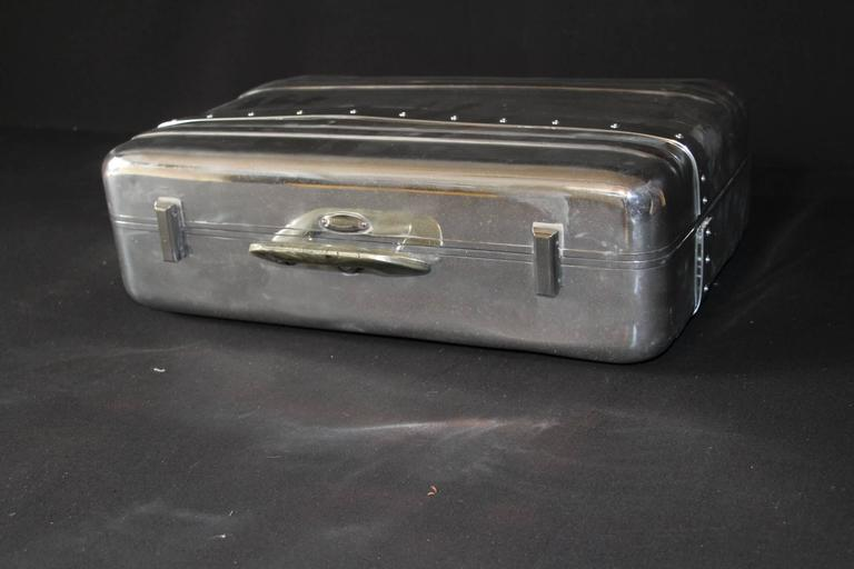 1940s Polished Aluminum Suitcase By Halliburton At 1stdibs