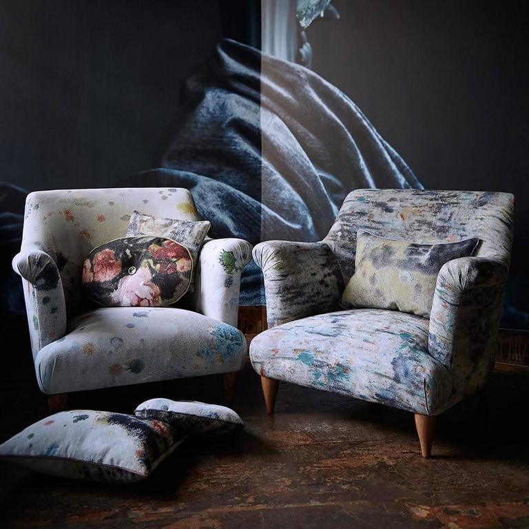 American Goddard Armchair in Martyn Thompson Studio Drippy For Sale