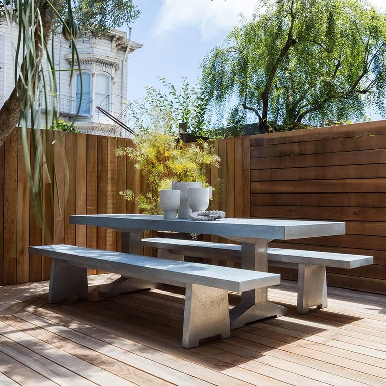 The Zinc table, from Piet Hein Eek's range of outdoor furniture, is a great addition to any outdoor setting. For complementary seating, Eek also offers a zinc bench.