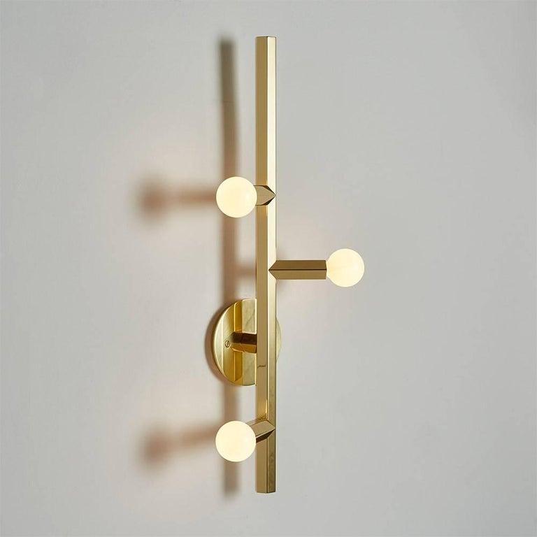 Polished Brass Linden Wall Sconce Light For Sale at 1stdibs