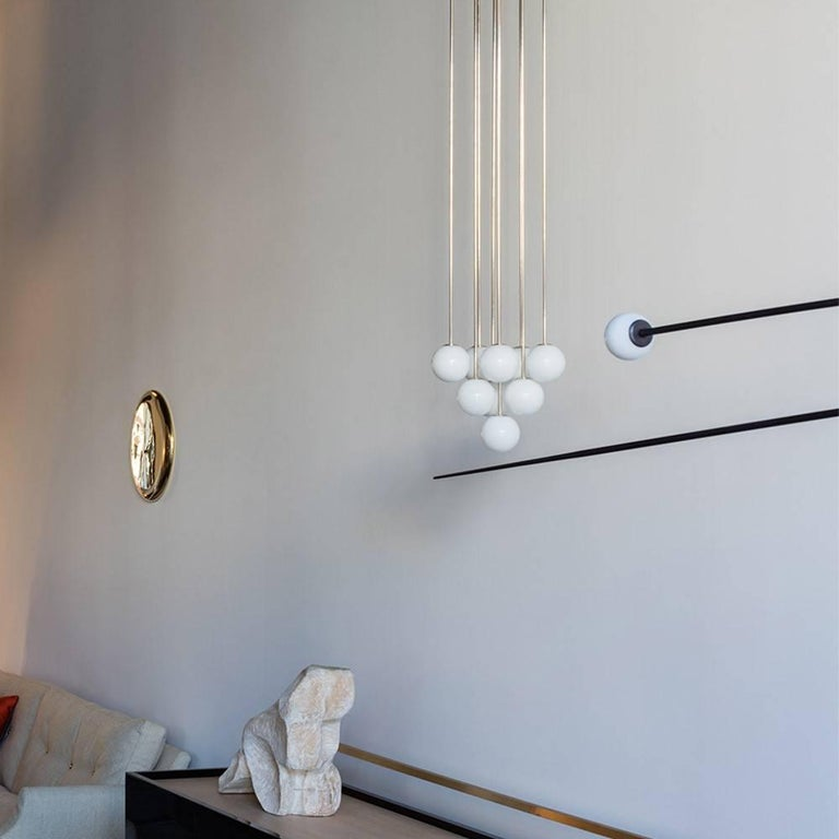 Modern Michael Anastassiades Polished Nickel Happy Together Pendant Chandelier Light For Sale