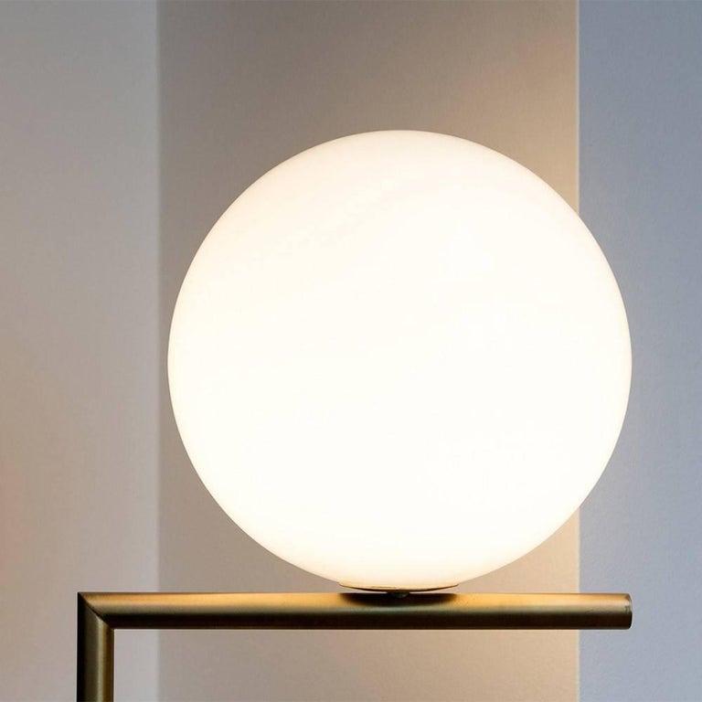 Michael Anastassiades Flos Brass IC F1 Floor Lamp Light with Globe