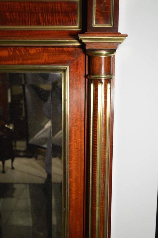 Early 20th Century A Fine Quality Mahogany & Brass French Over Mantle Mirror For Sale