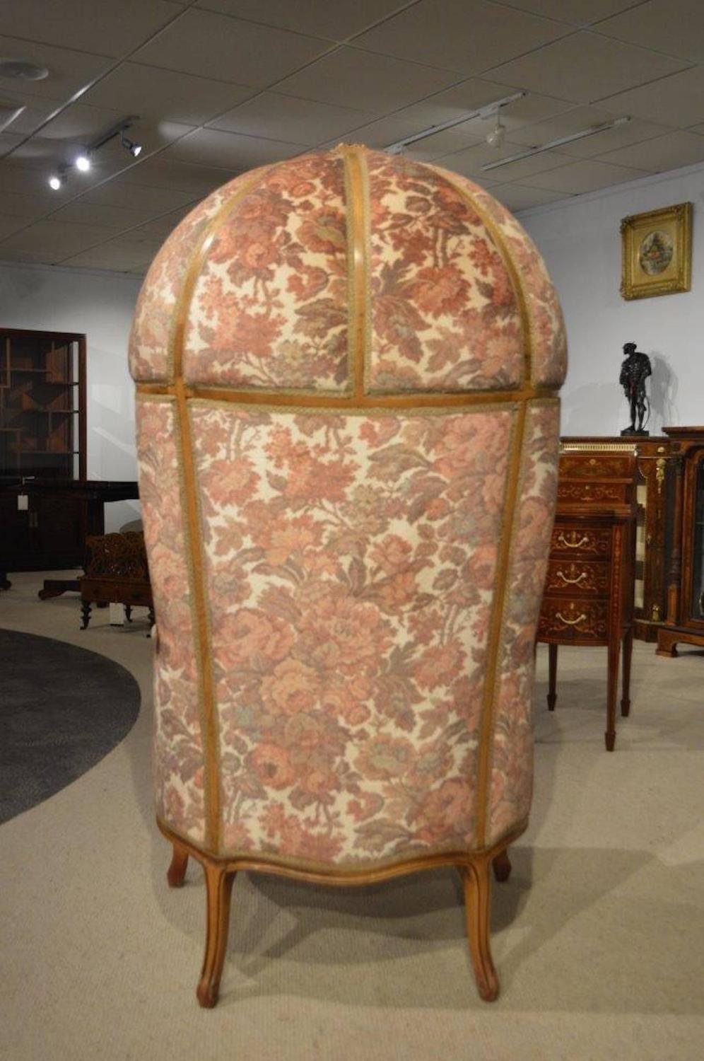 Walnut French Antique Hooded Porters Chair At 1stdibs