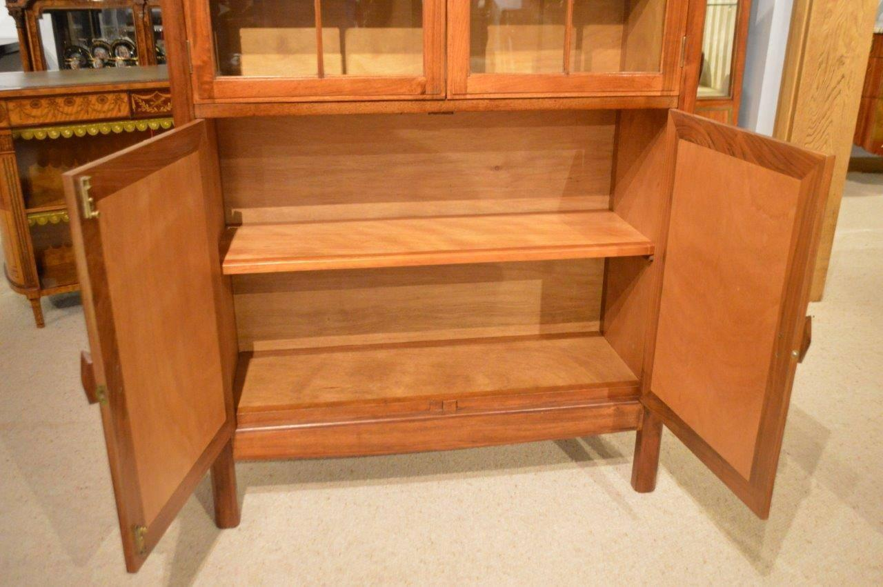 Walnut arts and crafts period bookcase by the brynmawr for Arts and crafts furniture makers
