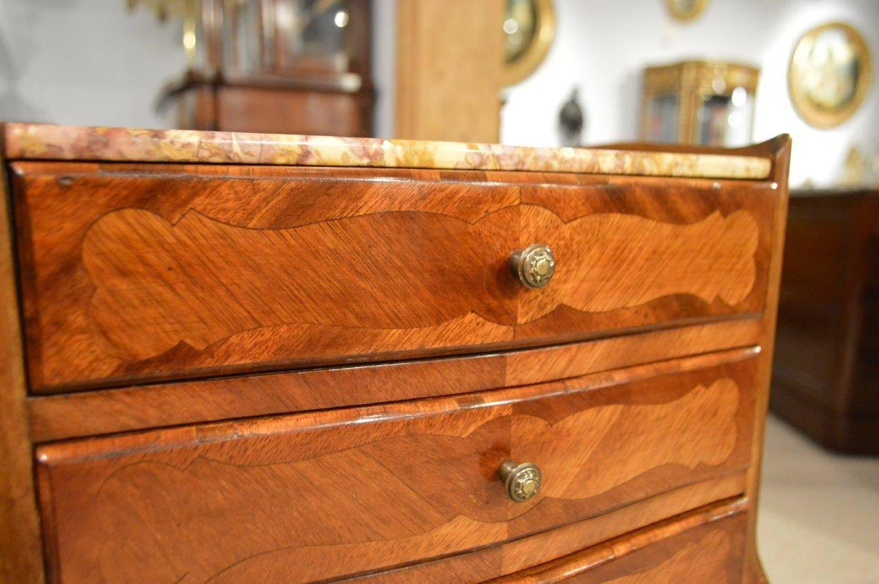 Good pair of mahogany marble top french bedside tables at for 12 wide bedside table