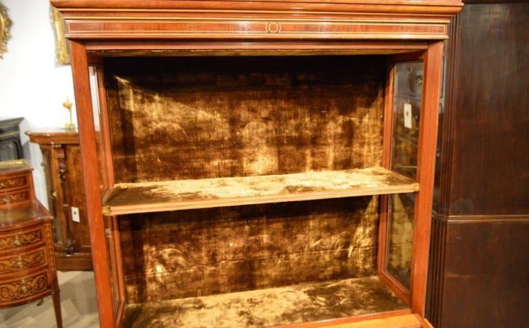 Fine Quality Pair of Fiddleback Mahogany Edwardian Period Inlaid Cabinets In Excellent Condition For Sale In Darwen, GB