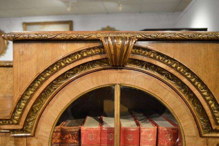 Walnut Parcel Gilt And Herring Bone Banded Queen Anne