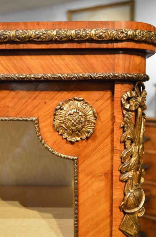 Mid-19th Century French 19th Century Period Kingwood and Ormolu Mounted Pier Cabinet For Sale