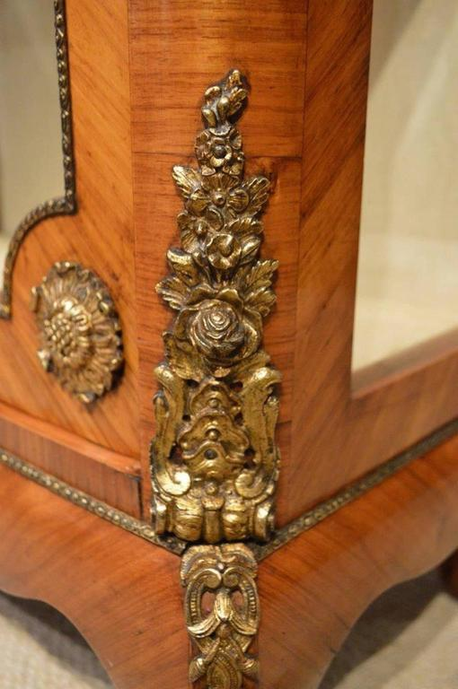 French 19th Century Period Kingwood and Ormolu Mounted Pier Cabinet For Sale 1