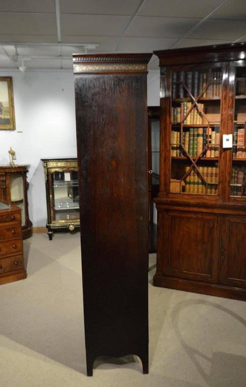 Fine Quality Brass Inlaid Rosewood Victorian Period Display Cabinet 9