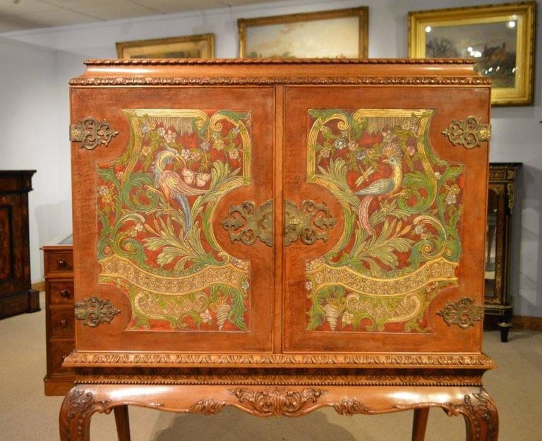 Early 20th Century Superb Edwardian Period Cocktail Cabinet on Stand For Sale