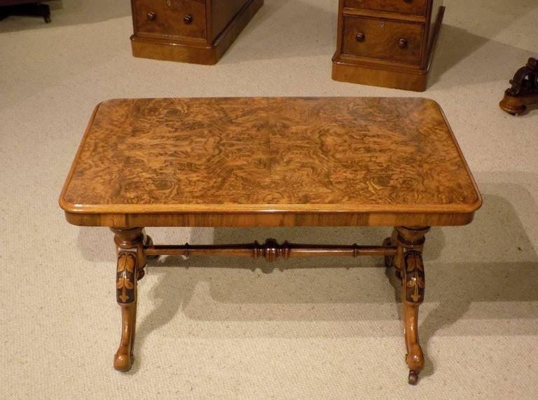 Small Burr Walnut Victorian Period Rectangular Antique Coffee Table At 1stdibs