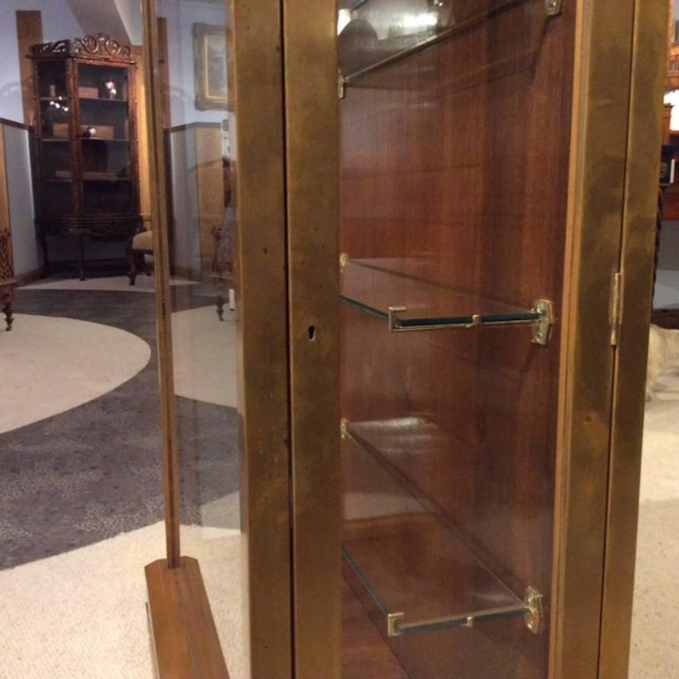 Fine Quality Art Deco Period Bronze Mounted Display Cabinet For Sale 1