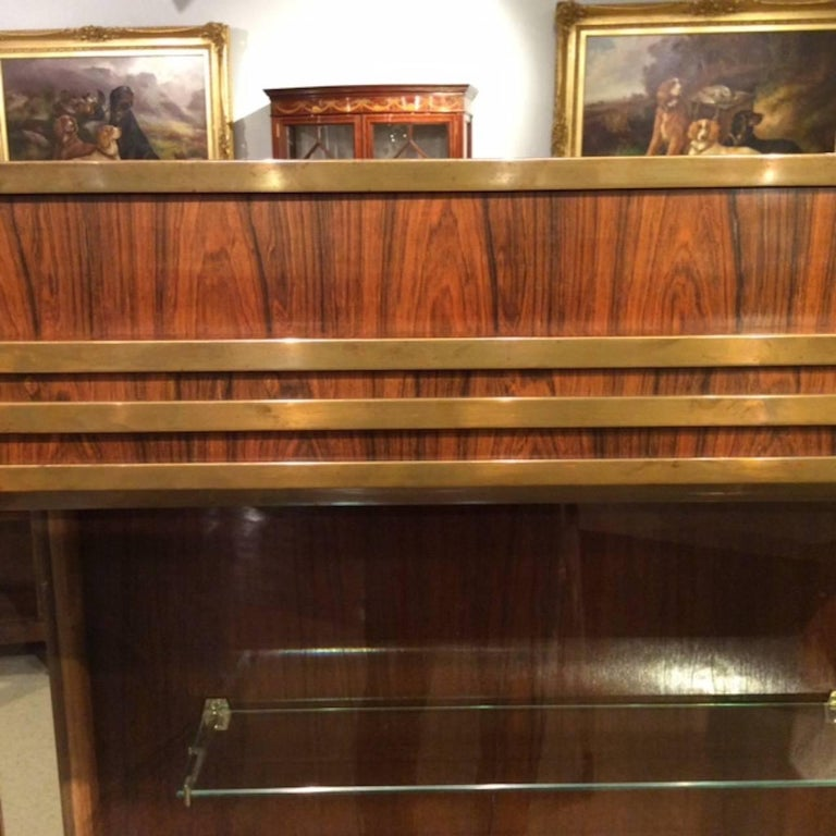 Fine Quality Art Deco Period Bronze Mounted Display Cabinet In Excellent Condition For Sale In Darwen, GB