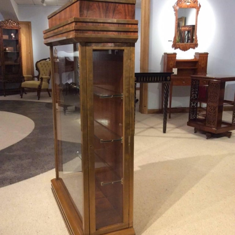 Mid-20th Century Fine Quality Art Deco Period Bronze Mounted Display Cabinet For Sale