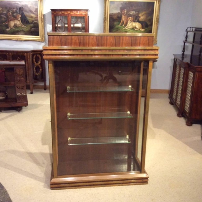 Fine Quality Art Deco Period Bronze Mounted Display Cabinet For Sale 3