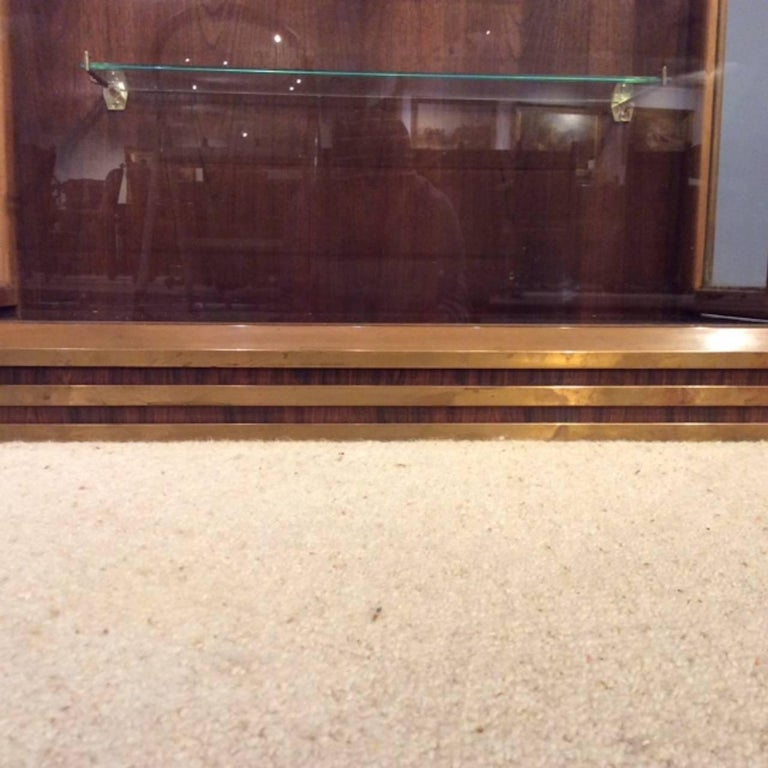 Fine Quality Art Deco Period Bronze Mounted Display Cabinet For Sale 5