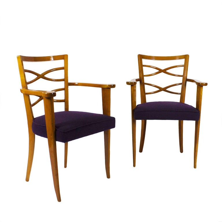 1940s Pair of Auxiliary or Desk Armchairs, Attributed De Coene Frères, Belgium