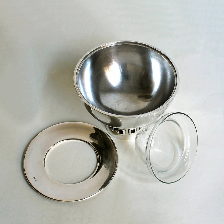 Spanish 1960s Pair of Silver Caviar Bowls by Puig Doria, Spain For Sale