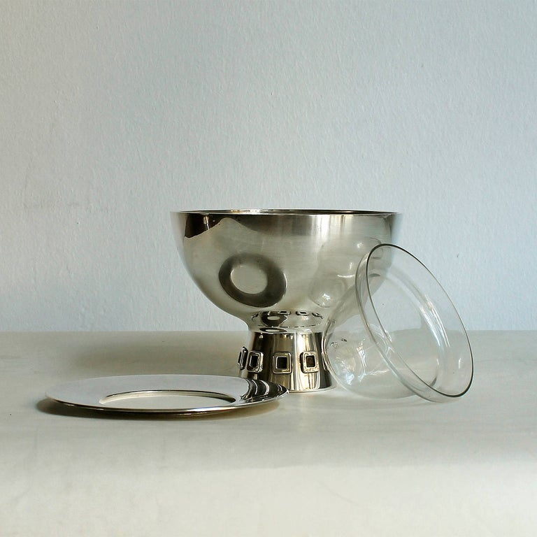 1960s Pair of Silver Caviar Bowls by Puig Doria, Spain In Good Condition For Sale In Girona, ES