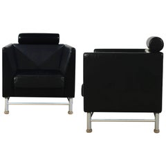 "1980s Pair of ""Eastside"" Lounge Chairs by Ettore Sottsass for Knoll, Italy"