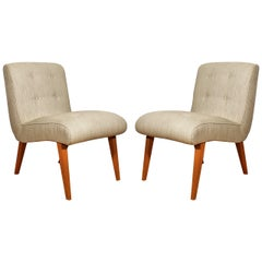 1950s Pair of Vostra Chairs by Walter Knoll, Beech, Felt, Germany