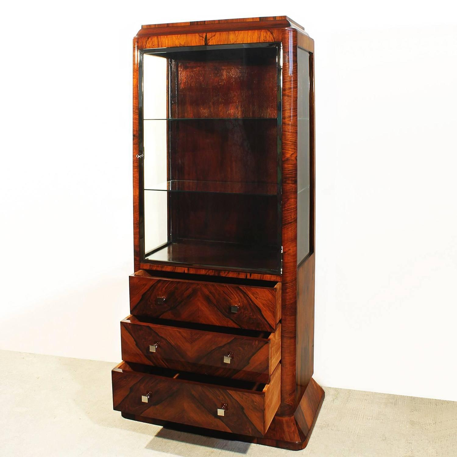 art deco french vitrine for sale at 1stdibs. Black Bedroom Furniture Sets. Home Design Ideas