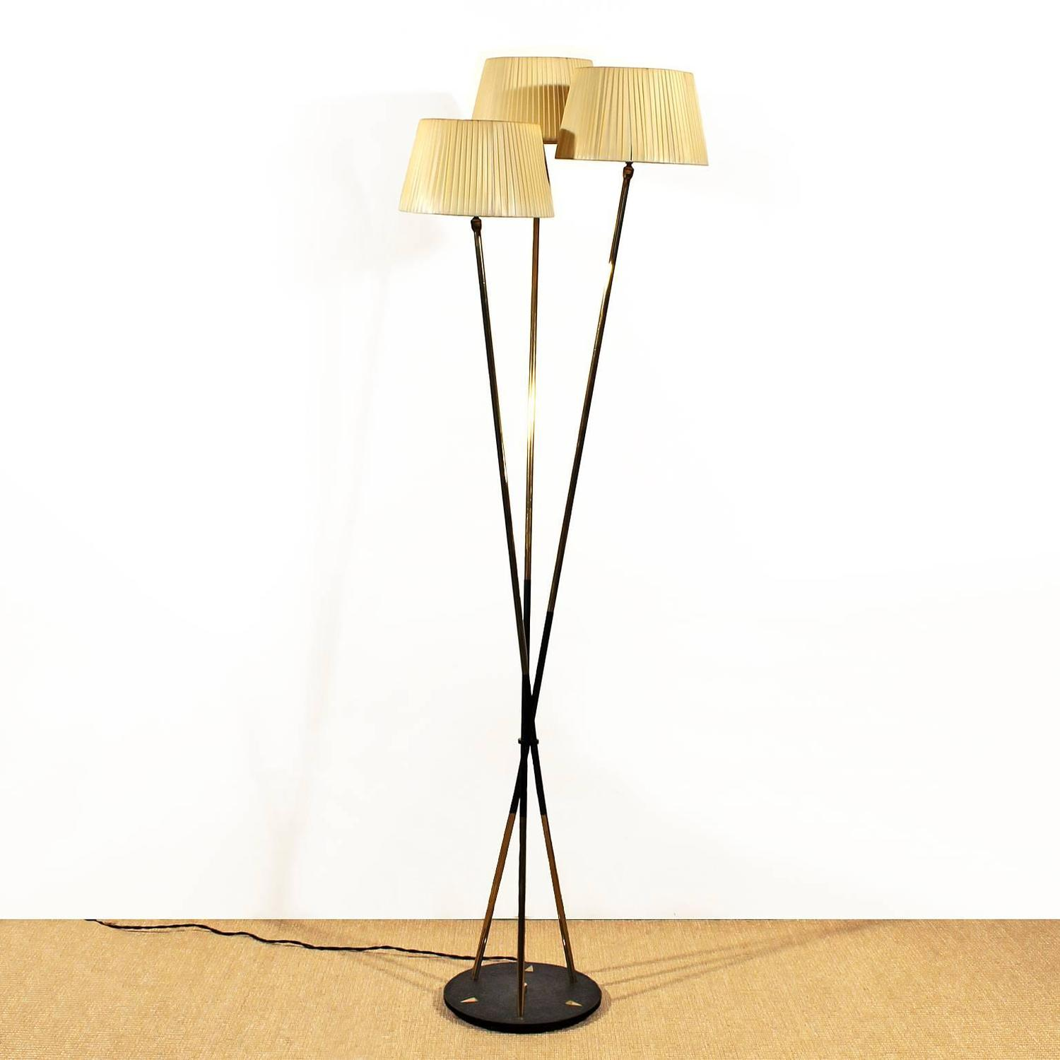 Triple french standing lamp from the 1950s at 1stdibs for Barcelona 3 light floor lamp