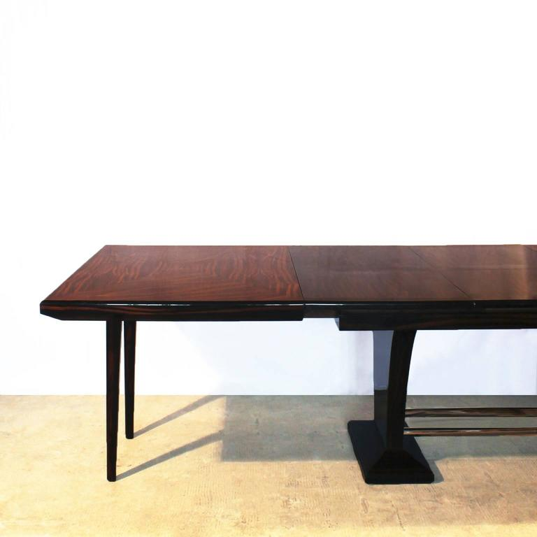 art deco dining table with extension leaves for sale at