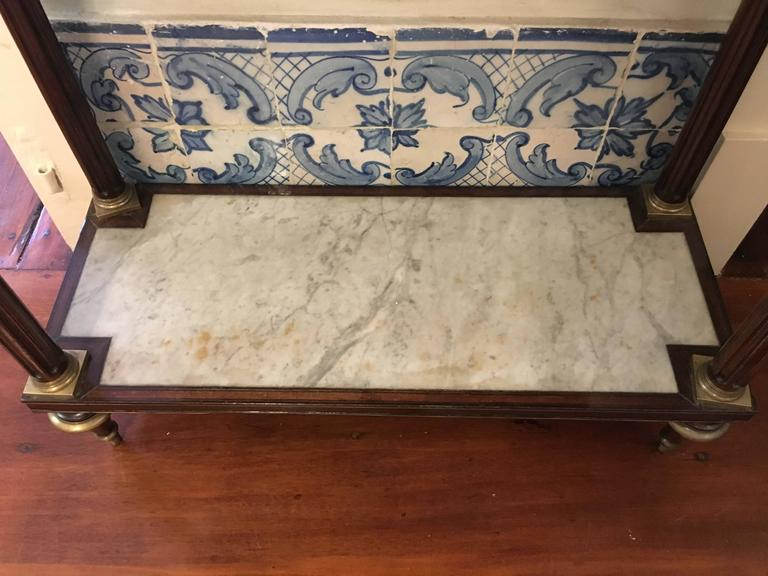Early 19th Century Louis XVI Mahogany Marble Topped Console Table 3