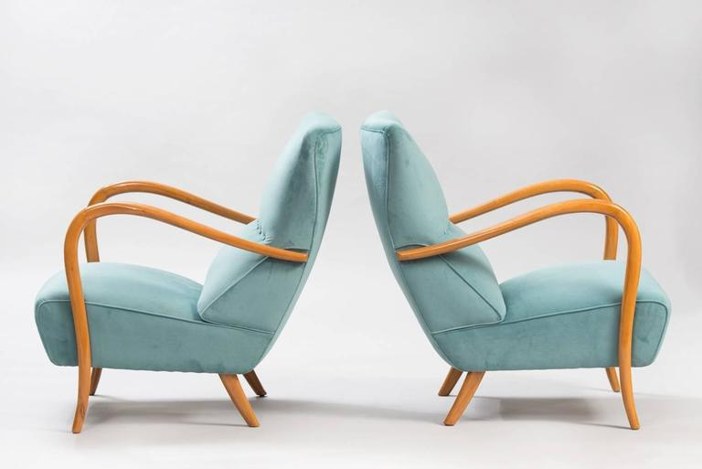 Mid-Century Modern Pair of mid-century Italian Armchairs For Sale