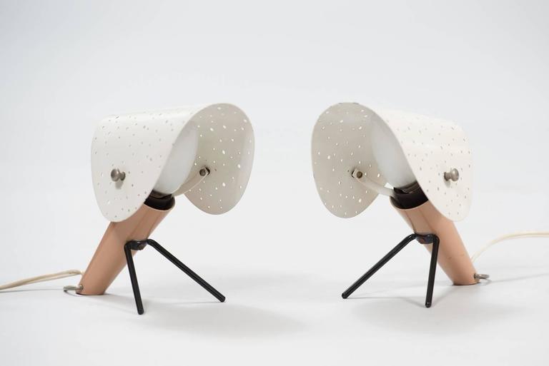 Mid-Century Modern Ernst LGL Pair of Table Lamps for Egon Hillebrend For Sale