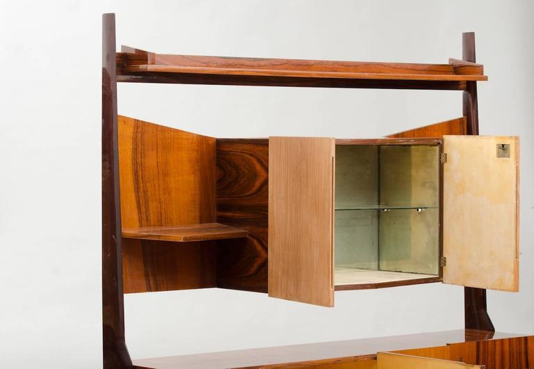 Mid-Century Modern Italian Cupboard with Dry Bar For Sale